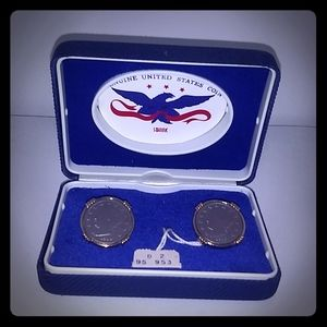 Vintage US Coin Cuff Links